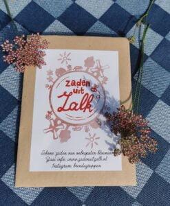 Zakje Zaden uit Zalk met bloemetjes